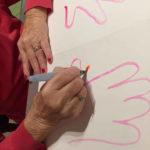 main personne âgée dessin